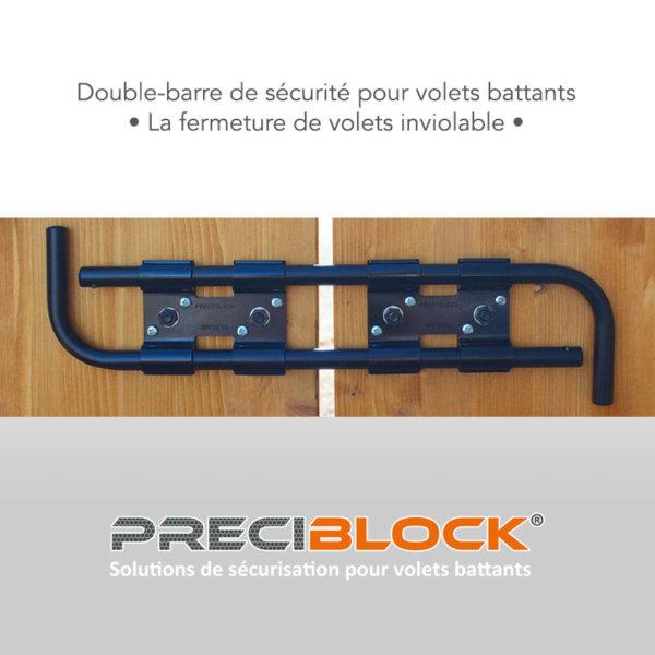 Double-barre de sécurité pour volets