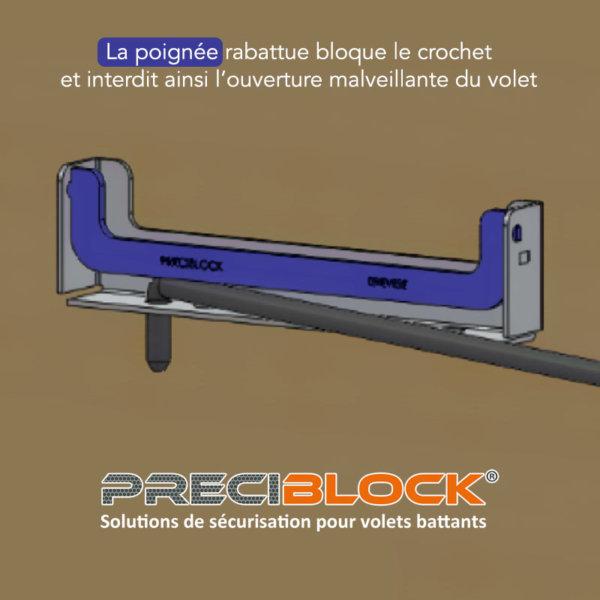Crémaillère sécurité - 3D - PRECIBLOCK