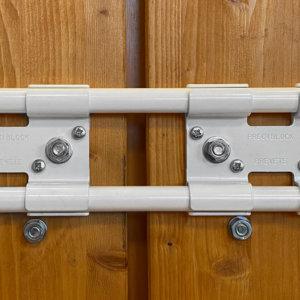 Double barre de sécurité PEINTE BLANC RAL 9016