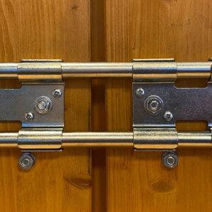 Double barre de sécurité ZINGUÉE BLANC